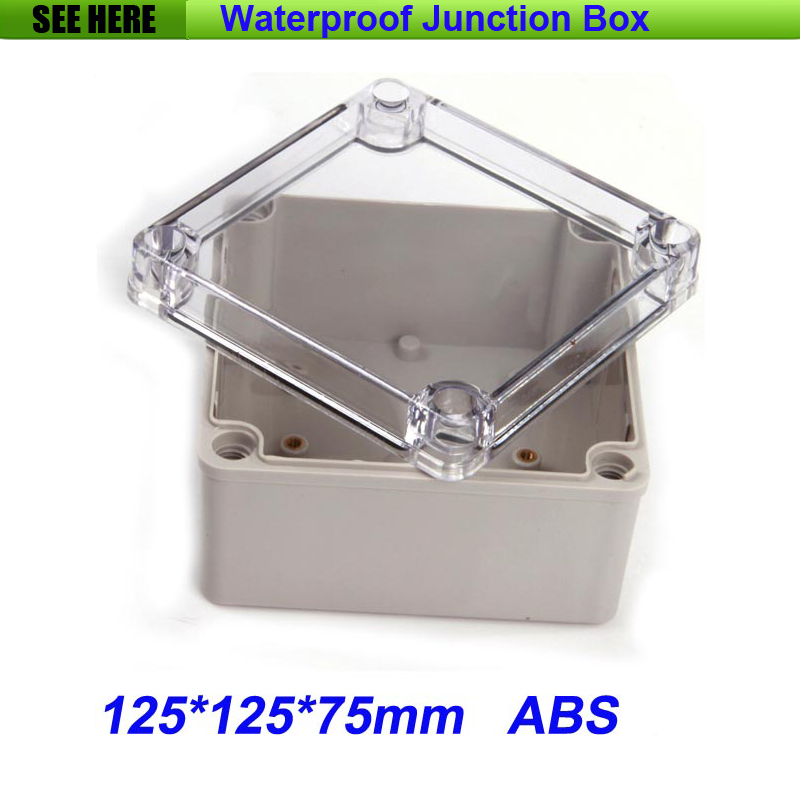 все цены на Free Shipping Good Quality ABS Material Transparent Cover IP66 Waterproof Electrical Switch Box 125*125*75mm