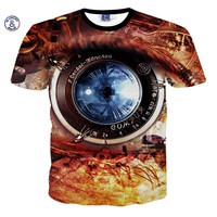 2017 Mr.1991INC&Miss.GO Summer New Men/Women Camera Lens Eye Printing One-eyed T-shirts Round neck Short sleeves Tee Tops S-XXL
