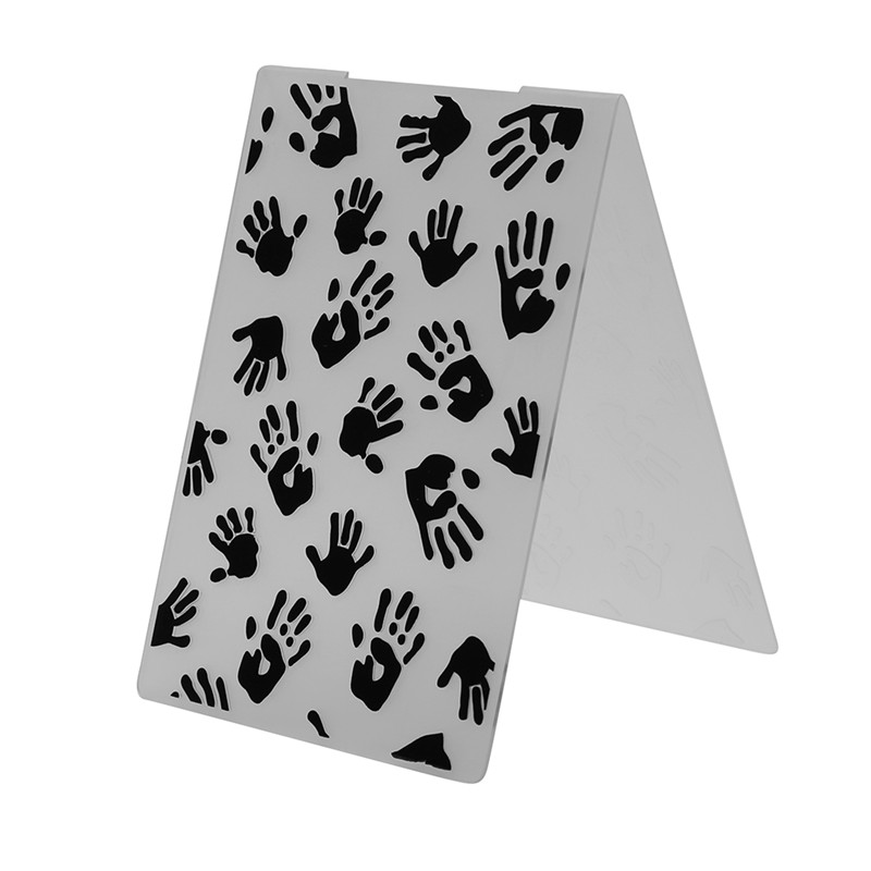 1pcs Palm Handprint Plastic Embossing Folder Template for Scrapbooking DIY Photo Album Decoartive Card Making plastic embossing foldet flower diy scrapbooking photo album card paper craft decoration template