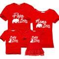 Nueva Mirada de la Familia Camisetas 2017 nuevo Verano Familia Correspondiente ropa Niños Madre Padre madre e hija de algodón hijo del vestido ocio