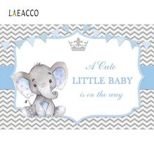 Baby Shower Elephant Backdrops For Photography Party Chevrons Stripe Poster Photocall Backgrounds Photo Studio