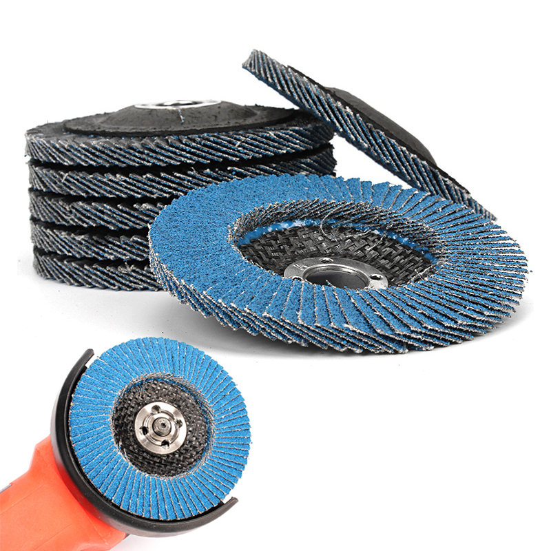 ZtDpLsd 1 Pc Blue Zirconium Oxide 100mm Sanding Flap Disc Grinding Wheel Polishing Quick Change Grit Angle Grinder Abrasive Tool