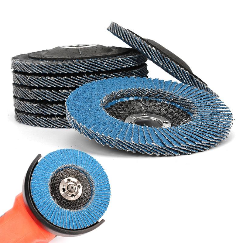 ZtDpLsd 1 Pc Blue Zirconium Oxide 100mm Sanding Flap Disc Grinding Wheel Polishing Quick Change Grit Angle Grinder Abrasive Tool