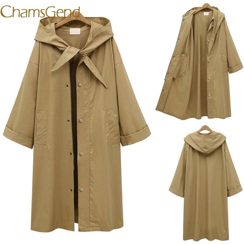 Chamsgend S M XL XXL XXXL XXXXL coats women 2017 autumn winter slim long trench coat plus size clothing womens windbreaker 77#