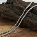 Vintage Thai Silver 3mm Corn Chain Necklace New Fashion Necklace 100% Authentic 925 Sterling Silver Necklace Women Men jewelry