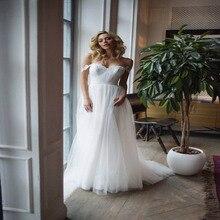 Robe De Soiree Off the shoulder simple wedding dress Fayette, Boho Chic dress, beach