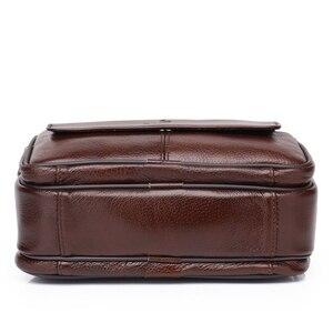 Image 4 - ZZNICK сумка из натуральной кожи мужские сумки с верхними ручками мужские сумки через плечо сумки мессенджеры маленькие повседневные сумки с клапаном мужская кожаная сумка