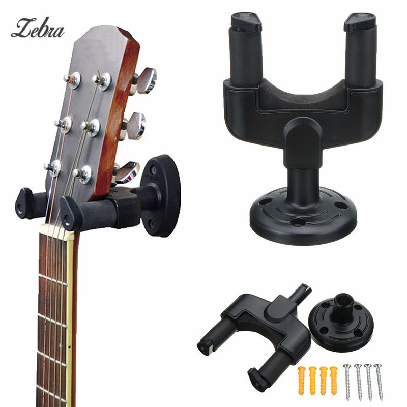 Zebra Electric Guitar Bass Wall Hanger Holder Stand Rack Hook Display Mount + Screws For Musical Instruments Parts Accessories