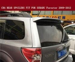 Wysokiej jakości ABS farby w sprawie agencji ratingowych tylna owiewka bagażnika spoilery nadające się do SUBARU Forester 2009 2010 2011 2012 (z lampą LED)