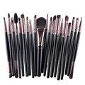 20 pçs/set Eye Foundation Sombra delineador Sobrancelha Lip Kits de Pincéis para Maquiagem Brushes set Ferramentas cosméticos beleza Maquiagem Jogo de Escova