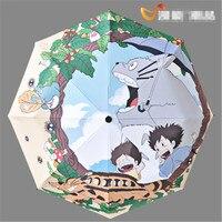 Cosplay Miyazaki Hayao Sevimli Totoro Yağmur Şemsiye Katlanır Şemsiye Hediye Kawai Çünkü Şemsiye