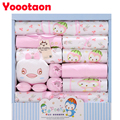 2016 New 100% cotton 18pcs/set New born underwear clothes sets High quality newborn baby clothing gift set