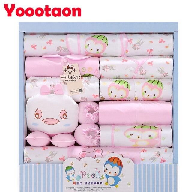 2016 New 100% cotton 18pcs/set New born underwear clothes sets High quality newborn baby clothing gift set