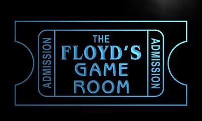 x0167-tm Floyds Game Room Home Cinema Custom Personalized Name Neon Sign Wholesale Dropshipping On/Off Switch 7 Colors DHL