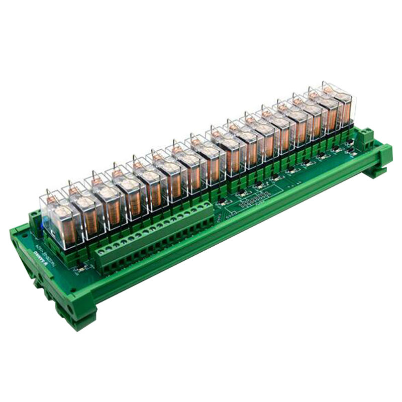 US $40 0 |16 channels 24V 16A OMRON Relay Module driver board output  amplifier board PLC board Omron relay G2R 1 E Omron module relais-in  Connectors
