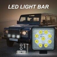 4inch 27w led work light flood spot far light led work lamp for Tractor Boat Off Road 4WD 4x4 led light work driving light