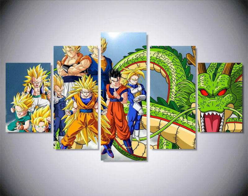 5Piece Modern Canvas Wall Art Anime Poster Canvas Prints ...