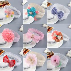 Мода новорожденных Детская повязка на голову детские милые аксессуары для волос для малышей группа кружевные цветы девушка резинки