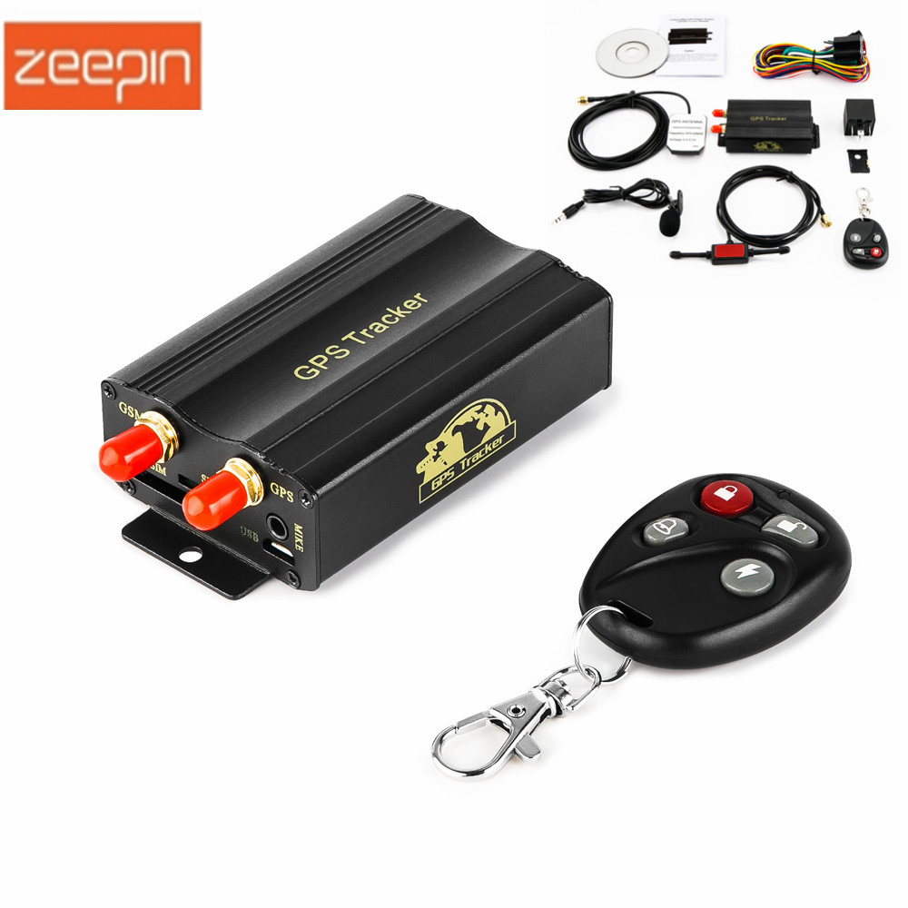 ZEEPIN TK103B Gps Tracker SMS/GPRS/GSM GPS Vehicle Tracker Locator with Remote Control Anti-theft Car Alarm System SD/SIM Card gt06 gps gsm gprs vehicle tracker locator anti theft sms dial tracking alarm