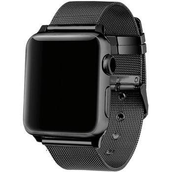 FOHUAS milanese loop for apple watch Series 3 2 1 replacement bracelet band iwatch stainless steel strap buckle with connector メンズ 時計 ゼニス