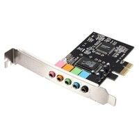 Промо-акция! PCI Express PCI E 5,1 канальный 3D Аудио 6 каналов цифровая звуковая карта для win XP