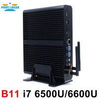 Мини ПК с 6th поколения Skylake Core i7 6600U 6500U Max 3,1 ГГц Intel HD Графика 520 HTPC Windows 10