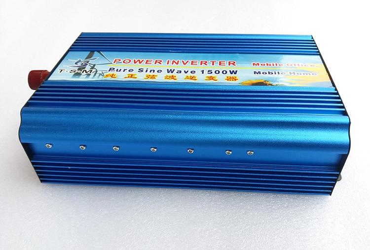 1500w dc24v to ac220v pure sine wave power inverter surge power 3000W digital display 1500w solar off grid pure sine wave power inverter dc24v to ac220v 50hz peak 3000w dual digital display
