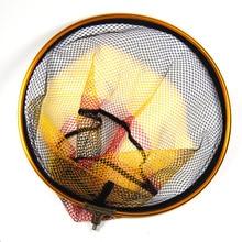 1PCS Round Landing Net Head Spare with 8mm Male Thread Mesh 5 X 5mm Diameter 30cm 35cm 40cm for Option Bank Rock Carp Fishing
