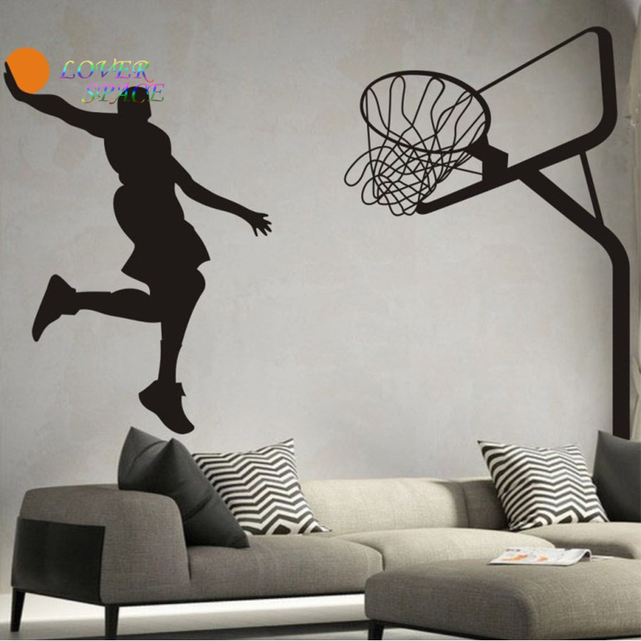 Buy basketball dunk sport removable wall for Stickers decorativos de pared