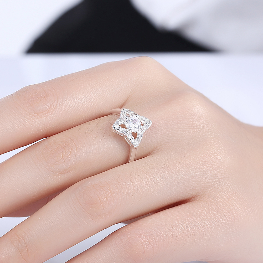 Hot Sale White Gold Color Wedding Rings for Women Engagement AAA ...