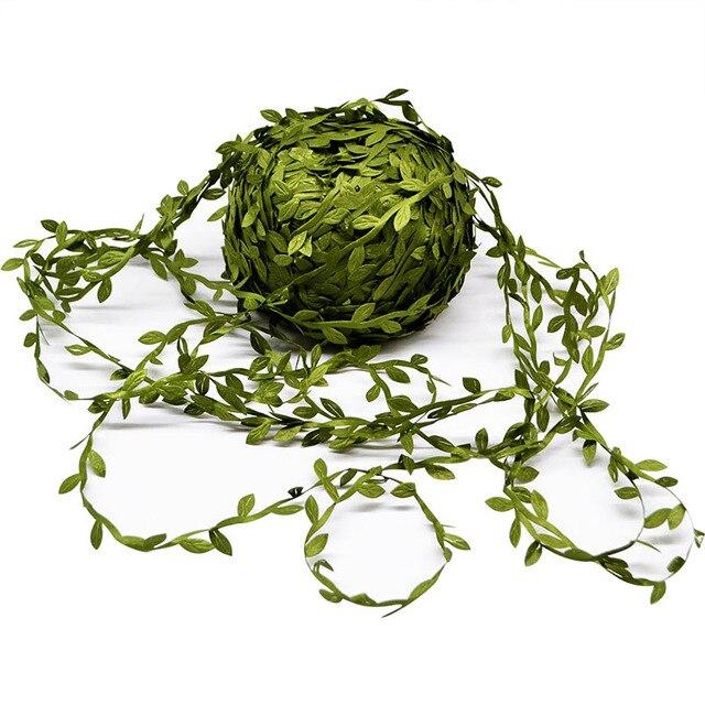 20 метров шелк природа зеленый искусственный Лист Листья лоза Свадебные украшения листва Скрапбукинг Ремесло венок поддельные гирлянда из цветов