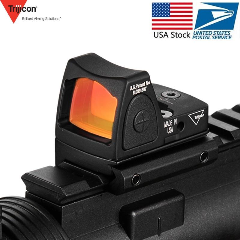 Trijicon Mini RMR Red Dot Sight Collimator Glock /Handgun Reflex Sight Scope fit 20mm Weaver Rail For Airsoft / Hunting Rifle