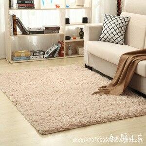 Image 4 - Arredamento Per la casa Ispessimento acqua lavata di seta di lana antiscivolo capelli lunghi tappeto soggiorno sala da tè da comodino yoga mat personalizzato grossisti
