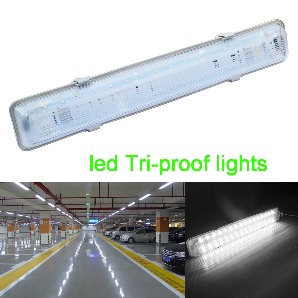 ФОТО Jiawen Led Tri-proof lights IP65 Waterproof Dustproof  Warehouse Batten Lights(AC85-265V)