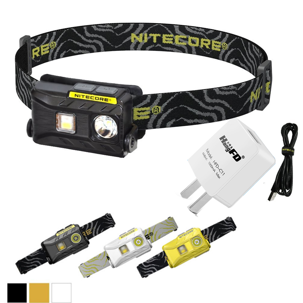 NITECORE NU25 Headlamp 3*CREE XP-G2 S3 max. 360lm Headlight beam distance 81 meters head light with USB charging cable Headband nitecore eh1 explosion proof headlamp cree xp g2 s3 led headlight usb cable adapter adhesive mount industrial lighting