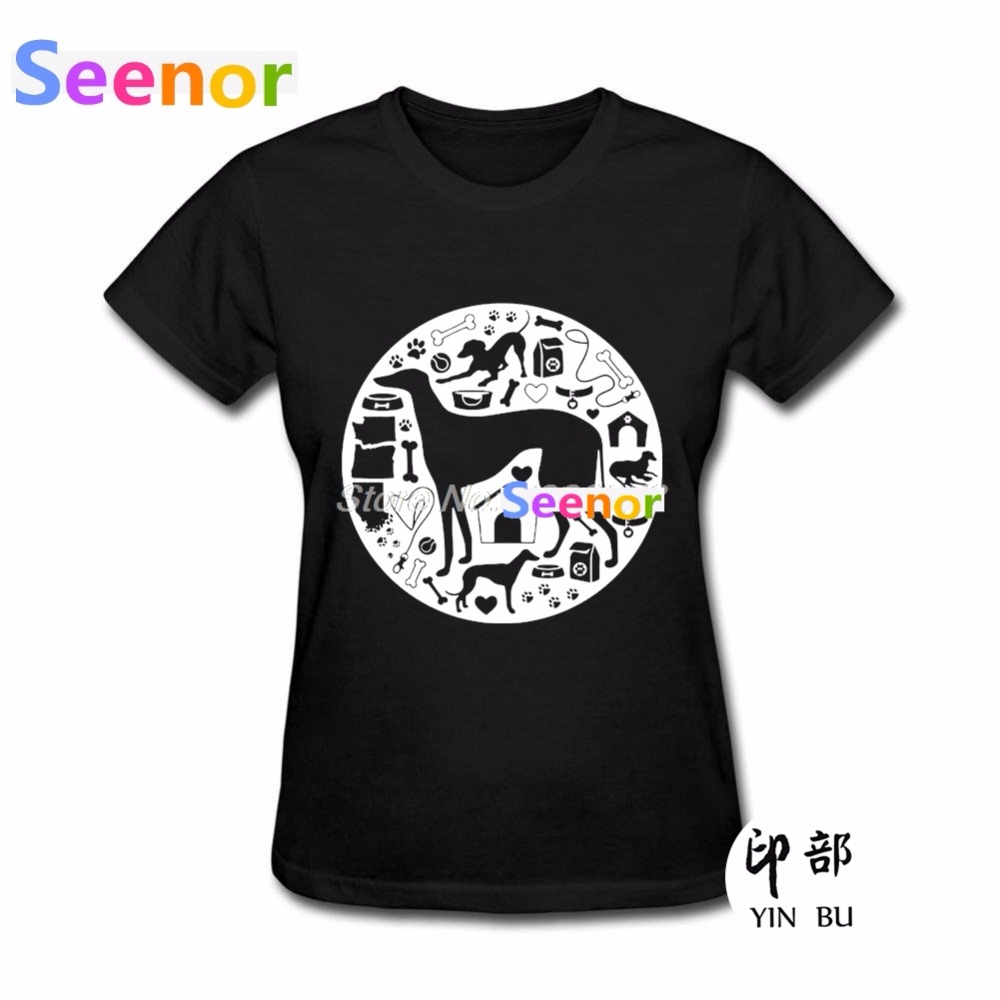 Charitable Hot Sale T-shirt Famale Fashion Greyhound Dog Tshirt Blank Bulldog Kawaii Womens T Shirts Camisetas With The Best Service