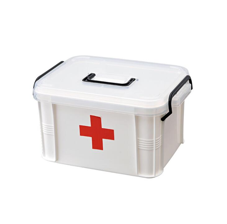 Large family medicine cabinet Multi-layer medicine box portable First aid box First aid box home new gbj free shipping home aluminum medical cabinet multi layer medical treatment first aid kit medicine storage portable