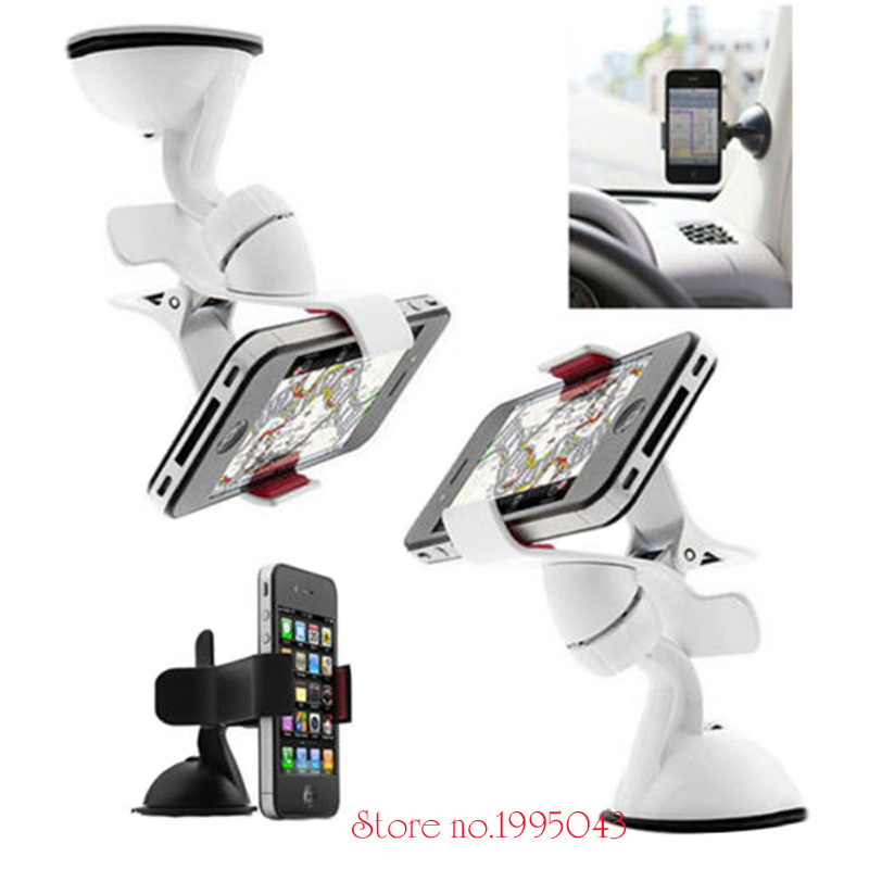 360 Degree Black And White Car Magnet Mini-phone Holder Sticky Suck Cell Phone Support For Samsung S7 Edge For Iphone 8 Holder