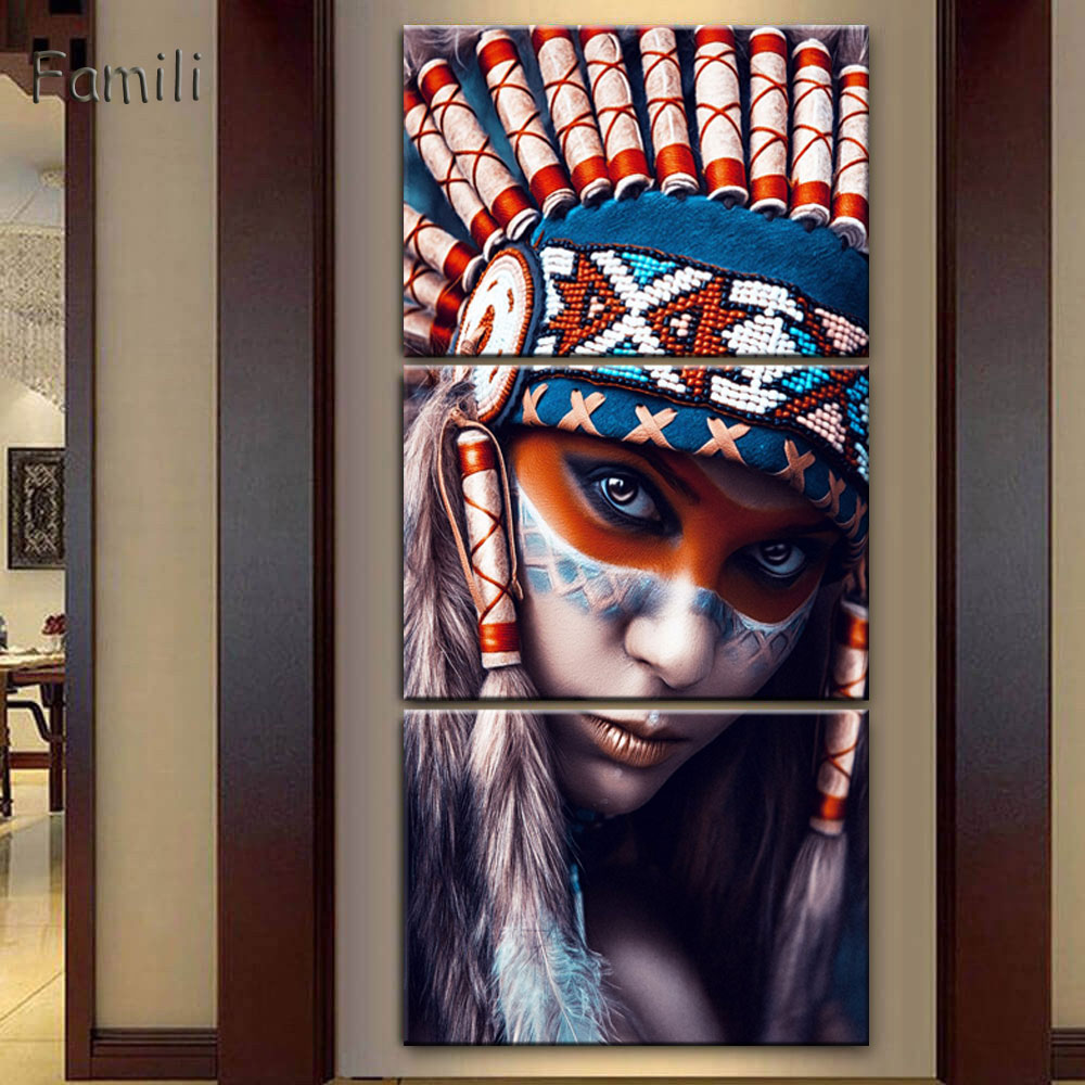 Hot Selling 3 Pieces Native American Indian Girl Printed -3894