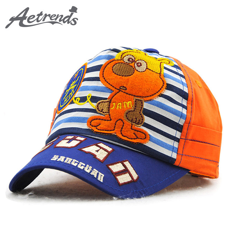 AETRENDS  5~7 years old kids cap baseball striped cartoon festival child s cap  hat golf fishing snapback hats 5 panel Z-3395 09fcbf19801a
