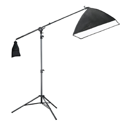 Photo Studio Lighting Overhead Flexible Arm Stand Photographic equipment  light STAND with cross arm softbox set 2m studio CD50
