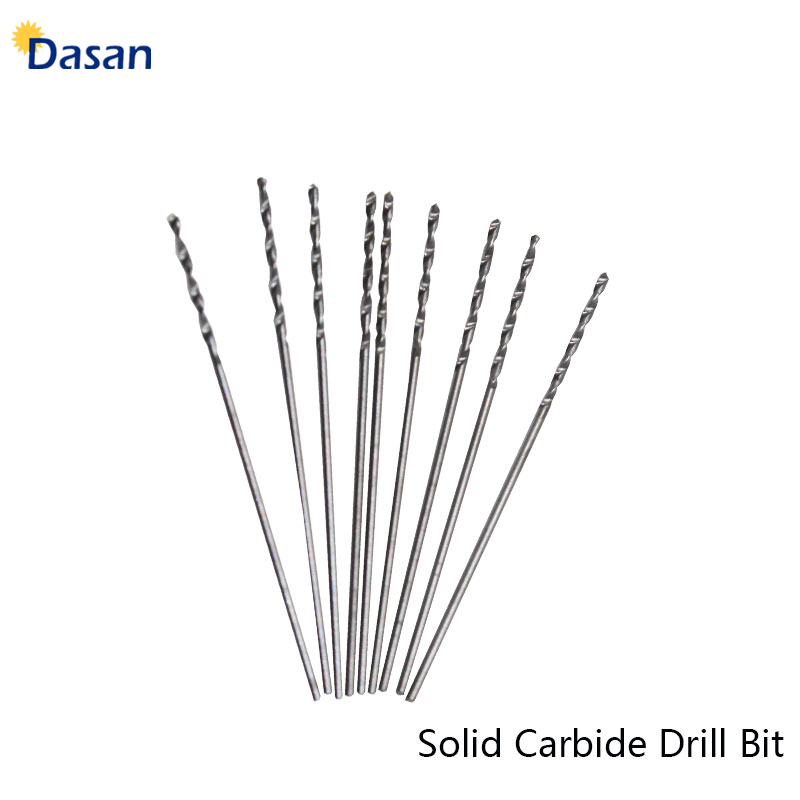 10pcs Carbide Twist Drill Bit 0.5mm 1mm  2mm 3mm  3.5mm Straight Shank Mini Twist Drill Bits Electric Drill Rotary Power Tools