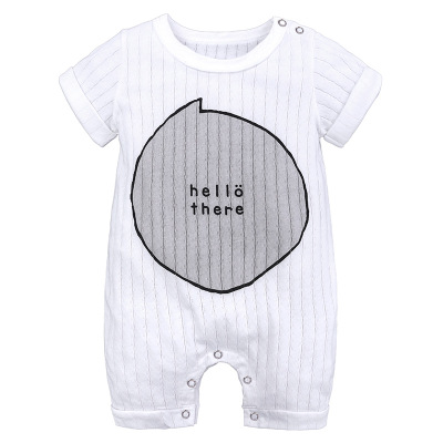 Summer New style baby rompers Short sleeve Newborn Infant Baby Boy Girl clothes Cute Cartoon Printed Jumpsuit Climbing Clothes | Happy Baby Mama
