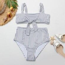 Rhyme Lady женский комплект бикини с пуш-ап, высокая талия, купальник, пляжный купальный костюм, летний купальник, бразильский купальник облегающий