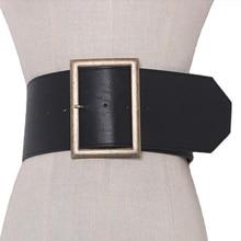 2020 אופנה מתכת אבזם רחב חגורת עור פאנק מגניב חגורות להגזים כבד מתכת רחב חגורות היפ הופ עור pu חגורה עבור נשים