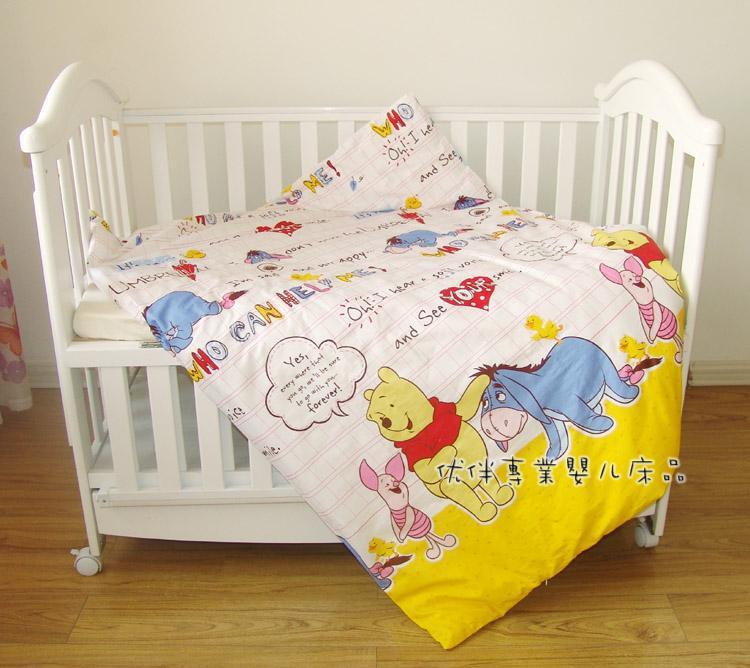 Promotion! 7pcs Crib Bedding Infant Bedding Set Baby Bedding Set for Newborn (bumper+duvet+matress+pillow)