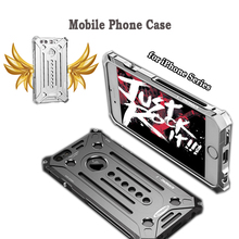 Charming Mobile Phone Case for iPhone 5 5E 6 6s Plus 7 7 Plus,Hardest Metal Cellphone Armored Back Cover,Super Cool Phone Jacket