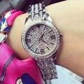 Женщины Rhinestone Часы Розовое Золото Платье Часы Полный Diamond Crystal женщин Роскошные Часы Женские часы донна relojes