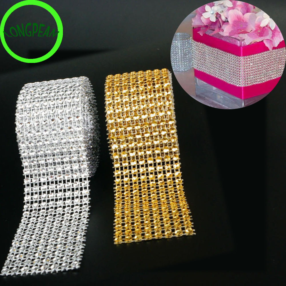 Detail Feedback Questions about 30f  4CM 2M Diamond Mesh Wrap Ribbon  Rhinestone Mesh Roll Tape Tulle Crystal Useful on Aliexpress.com  3ceebc9df597