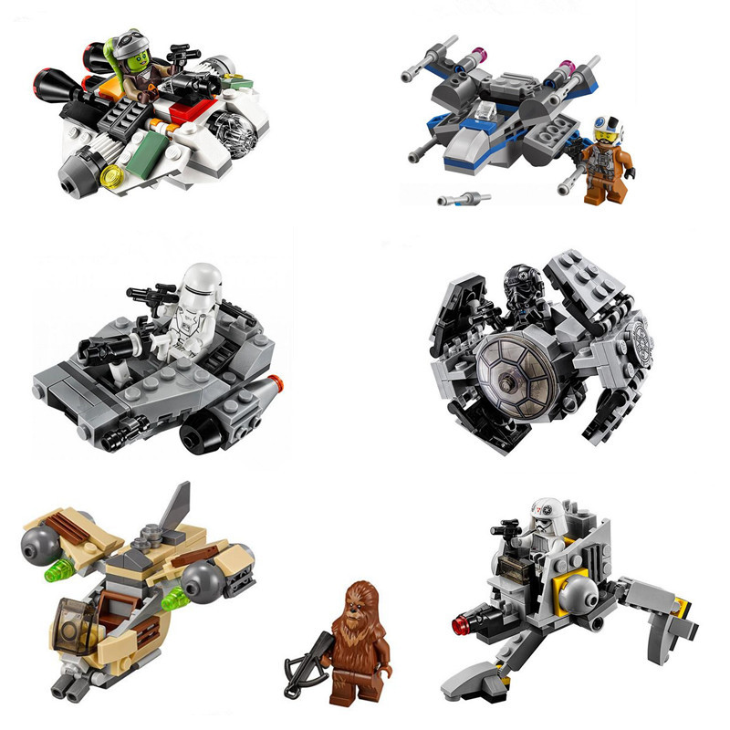 LEPIN Star Wars Rebels TIE Advanced Prototype Micro Fighters Ghost Ship Building Block Toys Compatible Kids